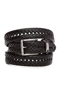 Nautica Big & Tall Handlaced Basket Weave Braided Belt
