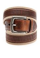 Columbia™ Men's Fabric Casual Belt With Leather Inlay