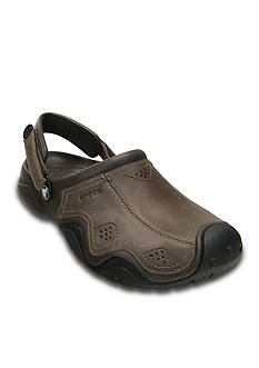 Crocs Swiftwater Leather Clogs