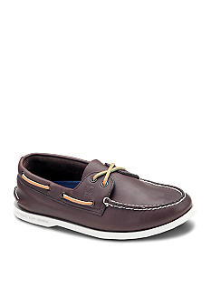 Sperry® Top-Sider Leather A/O Brown Casual Lace-Up-Extended Sizes Available