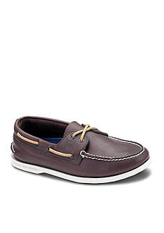 Sperry Leather A/O Brown Casual Lace-Up-Extended Sizes Available
