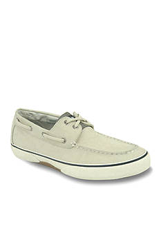 Sperry Haylard Ecru Canvas Boat Shoe