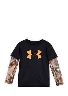 Under Armour Big Logo Tee with Camo Sleeves Toddler Boys