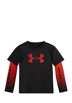 Under Armour Long Sleeve Big Logo Slider Tee Toddler Boys