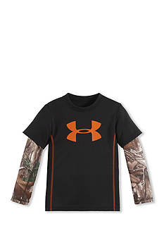 Under Armour Big Logo Slider Real Tree 2Fer Tee Toddler Boys