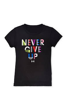 Under Armour Short Sleeve 'Never Give Up' Tee Toddler Girls