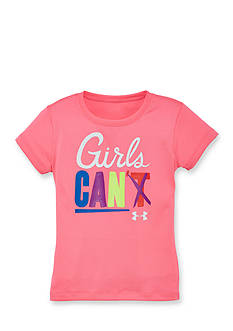 Under Armour Printed 'Girls Can' Tee Toddler Girls