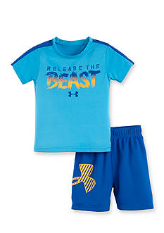 Under Armour 2-Piece Graphic Tee and Mesh Shorts Set