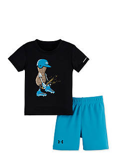 Under Armour 2-Piece Peanut Baseball Shirt and Short Set