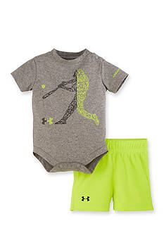 Under Armour 2-Piece Baseball Bodysuit and Short Set