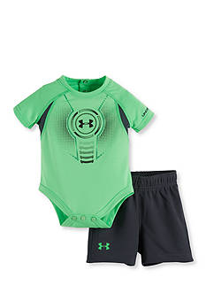 Under Armour 2-Piece Logo Shield Bodysuit and Mesh Short Set