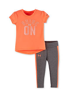 Under Armour 2-Piece 'Shine On Tee and Capri Pants Set