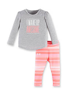 Under Armour 2-Piece 'Wake Up Awesome' Tee and Capri Legging Set