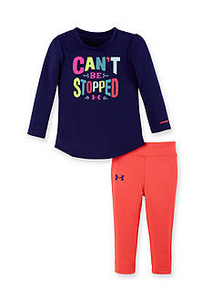 Under Armour 2-Piece 'Can't Be Stopped' Tee and Capri Legging Set