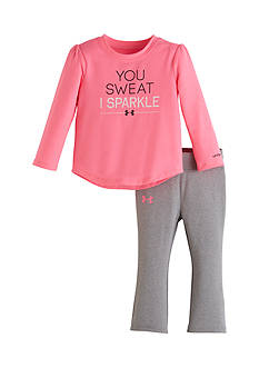 Under Armour 2-Piece 'You Sweat I Sparkle' Tunic and Pants Set