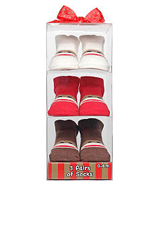 Rashti & Rashti Sock Monkey 3pk Sock Set