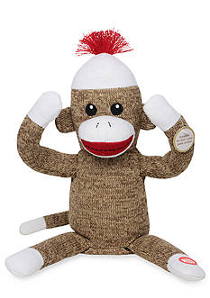 Rashti & Rashti Interactive Sock Monkey Plush