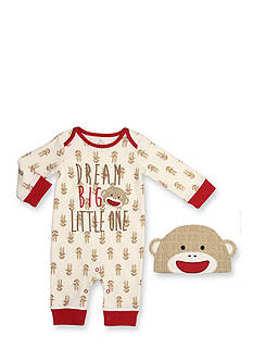 Rashti & Rashti 2-Piece Sock Monkey Iconic Collection Coverall and Hat Set