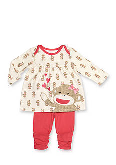 Rashti & Rashti 2-Piece Sock Monkey Iconic Collection Top and Legging Set