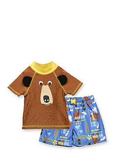 Candlesticks&reg 2-Piece Bear Swim Set Toddler Boys