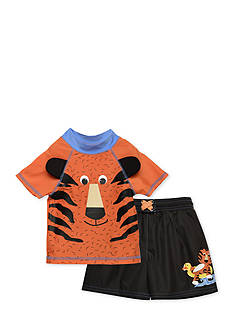 Candlesticks&reg 2-Piece Tiger Rash Guard Set