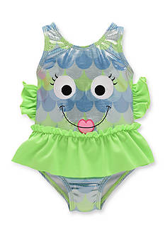 Candlesticks&reg Foil Print Fish One Piece Swimsuit Toddler Girls