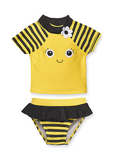 Candlesticks&reg 2-Piece Bumble Bee Rash Guard Swim Set