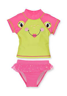 Candlesticks&reg 2-Piece Frog Rash Guard Swim Set