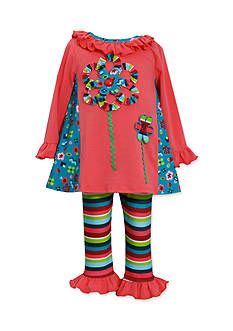 Bonnie Jean® Colorful Floral Applique Top & Legging Set