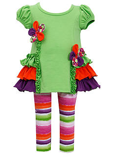 Bonnie Jean® Multi-Tier Ruffled Tunic & Legging Set