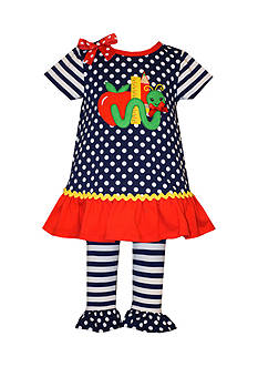 Bonnie Jean 2-Piece Back To School Bookworm Tunic and Leggings Set Toddler Girls