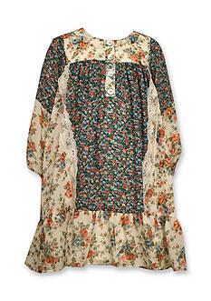 Bonnie Jean Mixed Floral Boho Float Dress Toddler Girls