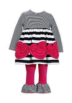 Bonnie Jean® Ruched Heart Striped Tunic Set