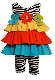 Bonnie Jean Zebra Tiered Set Toddler Girls
