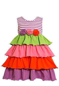 Bonnie Jean Stripe Multi Tier Dress Toddler Girls