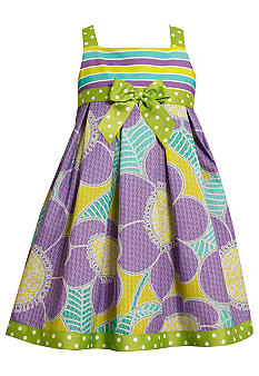 Bonnie Jean Tropical Flowers Dress Toddler Girls