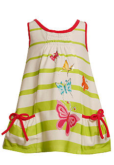 Bonnie Jean Butterfly Stripe Knit Dress Toddler Girls