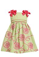 Bonnie Jean® Soutache Seersucker Dress Toddler Girls