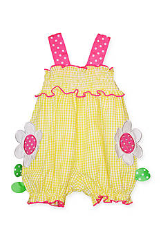 Bonnie Jean Flower Seersucker Romper Toddler Girls