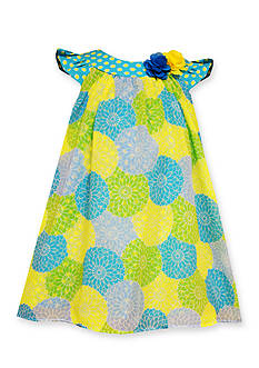 Bonnie Jean Printed Mum Chiffon Dress Toddler Girls