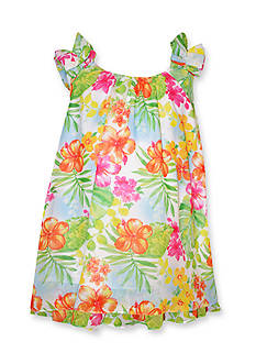 Bonnie Jean Tropical Chiffon Float Dress Toddler Girls