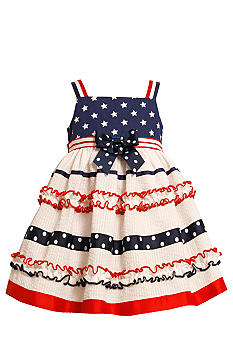 Bonnie Jean Americana Seersucker Dress Toddler Girls