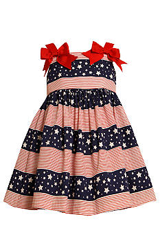 Bonnie Jean Stars and Stripes Bow Dress Toddler Girls