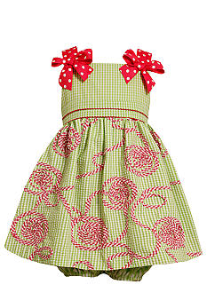 Bonnie Jean Gingham Bow Soutache Dress