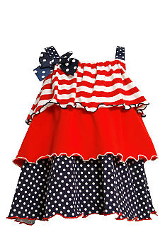 Bonnie Jean Tiered Americana Dress Set