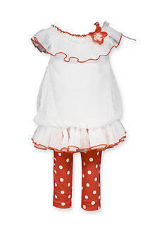Bonnie Jean 2-Piece Tunic and Polka Dot Legging Set
