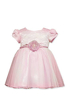 Bonnie Jean Lace to Mesh Ballerina Dress Toddler Girls