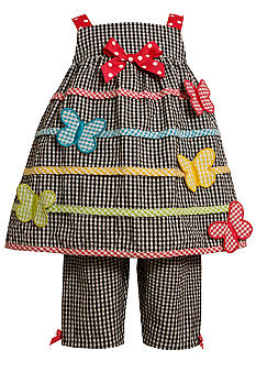 Bonnie Jean Butterfly Gingham Leggings Set Toddler Girls