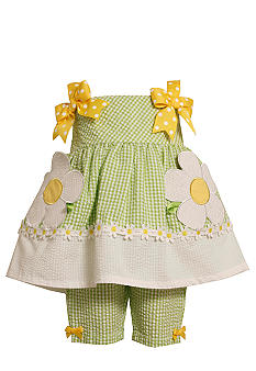 Bonnie Jean Lime Flower Set Toddler Girls