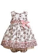 Bonnie Jean® Butterfly Empire Dress